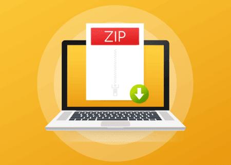 פתיחת קובץ ZIP